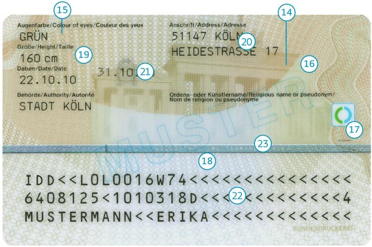 Die ich wo personalausweisnummer finde Hier steht
